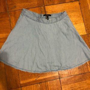 100% Cotton Light Blue Skater Skirt